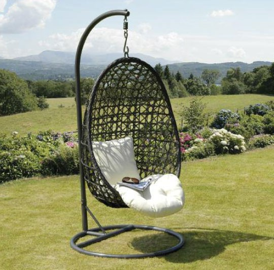 Bon Modern Rattan Hanging Garden Swing Chair Furniture OMR C041